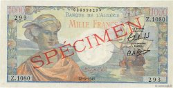 1000 Francs type 1945 réserve - Arnaud ALGÉRIE  1945 P.096s NEUF