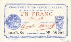 1 Franc ALGÉRIE Alger 1921 JP.137.18 NEUF