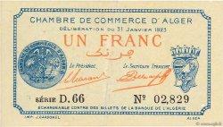 1 Franc Alger ALGÉRIE  1923 JP.137.26 SUP