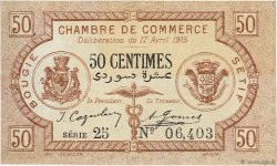 50 Centimes Bougie-Sétif ALGÉRIE Bougie, Sétif 1915 JP.139.01 SUP+