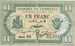 1 Franc ALGÉRIE Bougie - Sétif 1915 JP.139.02 SUP+