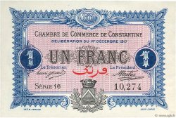 1 Franc Constantine ALGÉRIE  1917 JP.140.15 SUP
