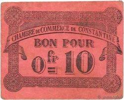 10 Centimes ALGÉRIE Constantine 1915 JP.140.47 SUP