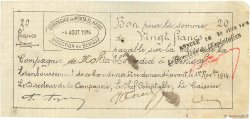 20 Francs ALGÉRIE Bénisaf 1914 JPCV.05 TTB