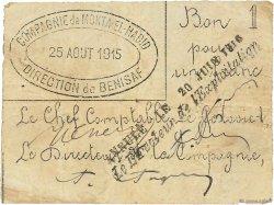 1 Franc ALGÉRIE Bénisaf 1915 JPCV.12 TB+