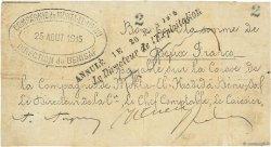 2 Francs Bénisaf ALGÉRIE  1915 JPCV.13 TB+