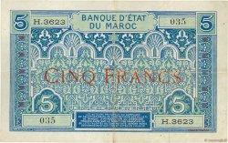 5 Francs 1924 MAROC  1924 P.09 TTB+