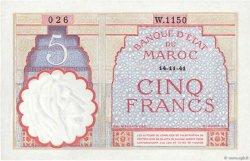 5 Francs 1922 modifié MAROC  1941 P.23Ab pr.NEUF