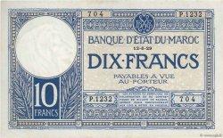 10 Francs 1920 modifié 1929 MAROC  1929 P.17a SUP+