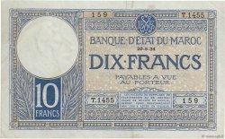 10 Francs 1920 modifié 1929 MAROC  1931 P.17a pr.SUP