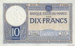10 Francs MAROC  1941 P.17b SUP