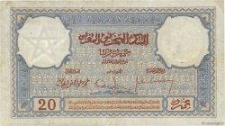 20 Francs MAROC  1929 P.18a TTB