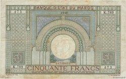 50 Francs MAROC  1945 P.21 TB+