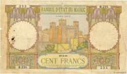 100 Francs type 1928 MAROC  1934 P.20 B