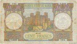 100 Francs MAROC  1917 P.20 TB