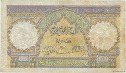 100 Francs type 1928 MAROC  1917 P.20 TB