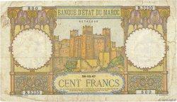 100 Francs MAROC  1947 P.20 B