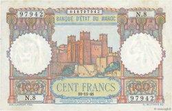 100 Francs MAROC  1948 P.45 SUP