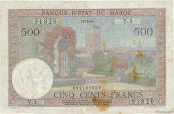 500 Francs type 1949 MAROC  1949 P.46 TTB