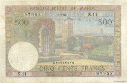 500 Francs type 1949 MAROC  1950 P.46 TB+
