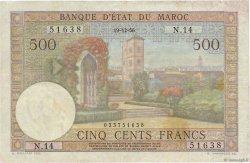 500 Francs type 1949 MAROC  1956 P.46 TTB