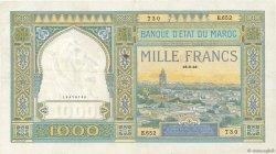 1000 Francs MAROC  1946 P.16c TTB+