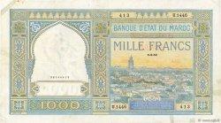 1000 Francs type 1921 MAROC  1950 P.16c TTB