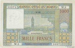 1000 Francs type 1951 MAROC  1951 P.47 SUP