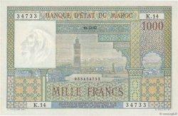 1000 Francs type 1951 MAROC  1952 P.47 SUP à SPL