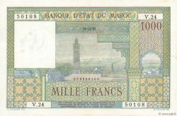 1000 Francs type 1951 MAROC  1956 P.47 SUP