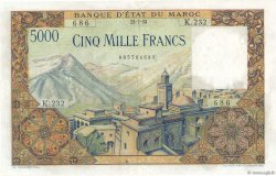 5000 Francs type 1951 MAROC  1953 P.49 SUP+