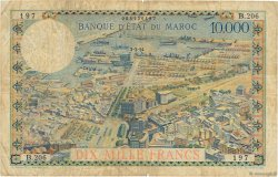 10000 Francs type 1953 MAROC  1954 P.50 pr.TB