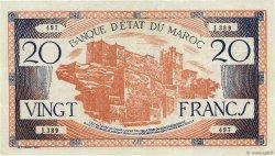 20 Francs MAROC  1943 P.39 TTB+