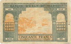 50 Francs type 1943 Casablanca. MAROC  1943 P.40 B