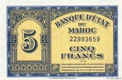5 Francs type 1944 MAROC  1944 P.24 pr.NEUF