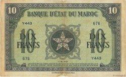 10 Francs MAROC  1943 P.25a TTB