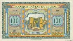 100 Francs MAROC  1943 P.27a TTB+
