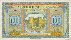 100 Francs MAROC  1944 P.27a TTB+