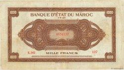 1000 Francs MAROC  1943 P.28a TB+