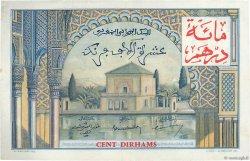 100 Dirhams sur 10000 Francs MAROC  1955 P.52 TTB+