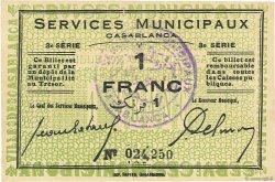 1 Franc MAROC Casablanca 1919 P.- pr.NEUF