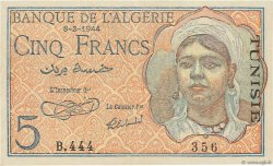 5 Francs type 1944 TUNISIE  1944 P.15 SUP+