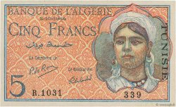 5 Francs type 1944 TUNISIE  1944 P.16 SUP+