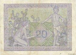 20 Francs TUNISIE  1943 P.17 TTB