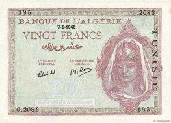 20 Francs TUNISIE  1945 P.18 pr.NEUF