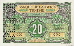 20 Francs type 1946 TUNISIE  1948 P.22s NEUF
