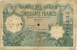 50 Francs type 1912 TUNISIE  1929 P.09 AB