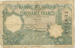 50 Francs type 1912 TUNISIE  1937 P.09 B