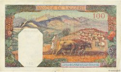 100 Francs type 1938 filigrane lettres TUNISIE  1942 P.13b pr.SUP