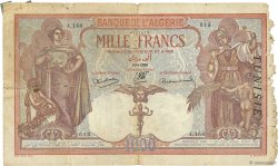 1000 Francs type 1926 TUNISIE  1938 P.11b B